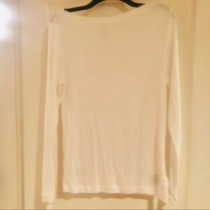 Bright White GAP - boatneck NWOT long sleeve shirt